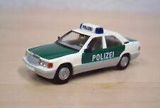"""Brekina/starmada-Mercedes-Benz 190 E (w 201) """"policía"""" - nº 13207 - 1:87"""