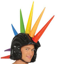 Halloween Gonflable spiked helmet Punk Motard Mohawk Rainbow Gay Pride Festival