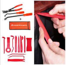 14Pcs Trim Prying Removal Tool Kit BONUS Clip Pliers for Car SUV Dash Door Audio