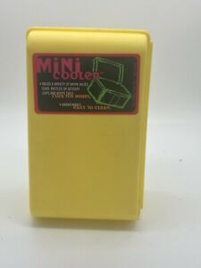 (2) Yellow Click Cooler Insulated Mini Cooler for Drink boxes, Cans. Made in USA