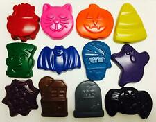 24 Halloween Crayons Party Favors Trick Trunk Or Treat Pumpkin Spider Skull