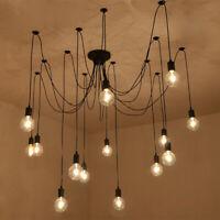Retro Vintage Chandelier Ceiling Spider Light Industrial Pendant DIY Lamp E27