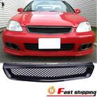 Fits 99-00 Honda Civic EK JDM Type-R 1999 ABS Black Mesh Front Hood Grille Grill
