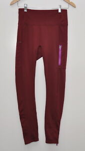 Fabletics size Medium M High-Waisted Motion365 Leggings Black Cherry/Orchid
