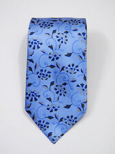 "EYE-CATCHING LUXURY ERMENEGILDO ZEGNA PAISLEY FLORAL SILK TIE L 61.5"" X W 3.5"""