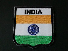 BACKPACKERS NATIONAL COUNTRY SHIELD FLAG SEW/IRON ON PATCH:- INDIA