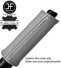 GREY REAL LEATHER HANDBRAKE HANDLE COVER FOR NISSAN 300ZX Z32 1989-1996