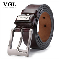 New Belt Vintage Leather 1 Genuine Brown Strap Western 2 Black Buckle Casual