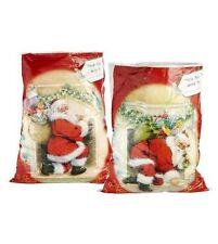 Giant SANTA Christmas Toy Present Xmas Sacks Bags Plastic Father Christmas - x2