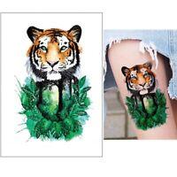 Temporäres Tattoo Tiger Tropischer Regenwald Design Klebetattoo Körperkunt
