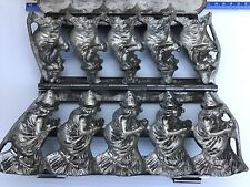"""VINTAGE HALLOWEEN 5 WITCHES CHOCOLATE MOLD. ANTON REICHE. GERMANY 8 1/4""""x4"""""""
