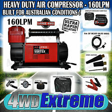 12 Volt Portable Air Compressor 160l/m 4wd Vortex AC Pro VTX200 Extra Heavy Duty