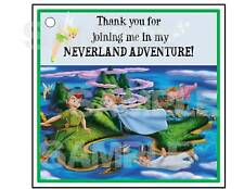 24 PETER PAN TINK  NEVERLAND gift hang tags Birthday Party Favors FREE SHIPPING