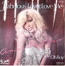 "7"" 45 TOURS FRANCE AMANDA LEAR ""Fabulous Lover Love Me / Oh Boy"" 1979 DISCO"