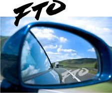 FTO Sticker Decal Etched Glass Effect  Mirror Styling