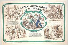 Tea Towel. 100% Cotton.  Australia Souvenir - Early Australian Miners