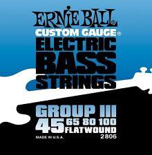 Ernie Ball 2806 Electric Bass Strings Flatwound 45-100 FREE U.S. Shipping!
