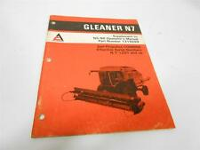 ALLIS-CHALMERS 1320790 GLEANER N7 SUPPLEMENT TO OPERATOR'S MANUAL 1319289