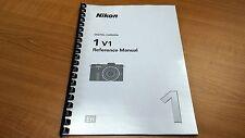 NIKON 1 V1 CAMERA PRINTED INSTRUCTION MANUAL USER GUIDE 232 PAGES