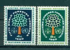 Nations Unies New York 1960 - Michel n. 88/89 - 5e Congres forestier mondial