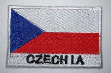Ecusson brodé patch thermocollant Drapeau REPUBLIQUE TCHEQUE - CZECHIA