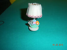 DOLLHOUSE MINIATURE  INCH SCALE   ELECTRIC LAMP W/  FIMO NOAHS ARK AND ANIMALS