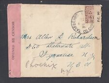 IRELAND 1941 WWII TWICE CENSORED COVER TAIRBEART TO NEW YORK REDIRECTED