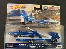 Hot Wheels Custom Galaxie 500 64 and Ford C800 Team Transport FLF56-956F 1/64