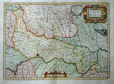 ITALIA ITALY ITALIEN LOMBARDIA TERRITORIO DI CREMONA MAGINI MAPPA COLORATO 1620