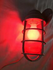 Crouse Hinds Explosion Proof Red Globe Light Mid Century Industrial