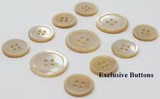 Beige Trocas Genuine Shell Buttons Set For Suit, Blazer, or Sportcoat