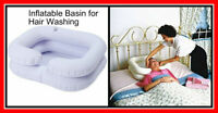 INFLATABLE Hair Washing Basin Portable Travel Shampoo Sink Bed Wash Bowl Pipe