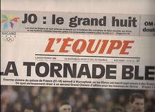 L'EQUIPE lundi 23 fevrier1998 : J.O. NAGANO RUGBY XV : ECOSSE-FRANCE