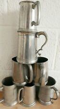 Collection of Pewter Tankards Various Ages 2.9kg (Hospiscare)