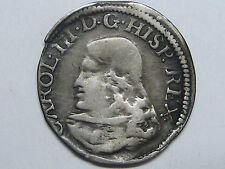 1706 BARCELONA 1 REAL CHARLES III PRETENDER CROAT SPANISH SPAIN COLONIAL SILVER