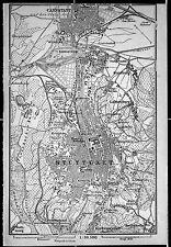 STUTTGART + CANNSTADT, alter Stadtplan, datiert 1901
