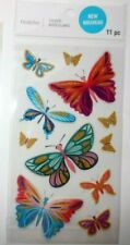 """NEW RELEASE! RECOLLECTIONS """"BEAUTIFUL GOLDEN BUTTEFLIES  STICKERS""""  11 Pieces"""