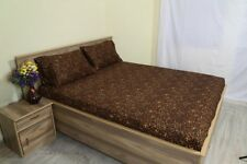 Luxury Fitted Sheet & 2 Pillowcase Leopard Print 100%Cotton 600 TC USA Size*