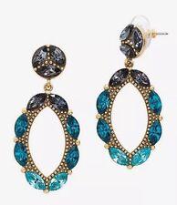 "❤️SILPADA KR ""Peacock Punch"" Swarovski Crystals Blue Earrings KRP0035 $69.00"