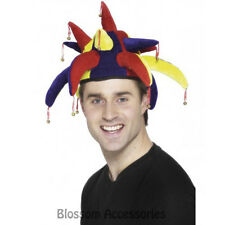 A462 Joker Jester Multicoloured Costume Hat with Bell Costume Accessory Medieval