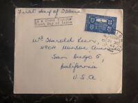 1949 Cork Ireland First Day Cover FDC To San Diego Ca USA