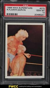 1988 Wonderama NWA Wrestling Superstars Ric Flair & Ron Garvin #270 PSA 10 GEM