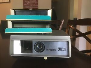 Argus 538 Slide Projector and Two Trays Free Shipping