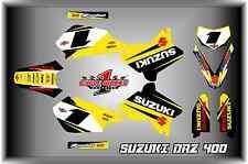 Suzuki DRZ400 DRZ 400  Supermoto SEMI CUSTOM GRAPHICS KIT SUPERMOTARD