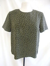 Ladies Top - Debenhams Classics, green/spotty, loose fit, summery, size 10 7151