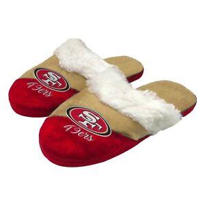 NFL San Francisco 49ers Women's Cursive Colorblock Slippers
