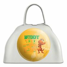 Dinosaur Train Buddy T-Rex Stats White Metal Cowbell Cow Bell Instrument