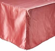 DaDa Bedding Satin Bed Skirt, California King, Rose, Cal, Pink