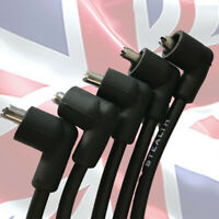 MGB HT leads Stealth Black Silicone Low resistance RACE Quality 8mm