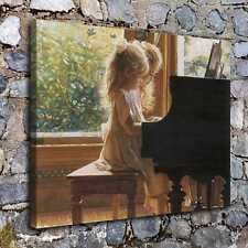A7074-Girls Play The Piano Home Decor  HD Canvas Print Picture Wall Art Painting